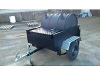 Large BBQ on a trailer with storage