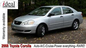 2008 Toyota Corolla--RARE!--Auto A/C-Cruise-Power everything!