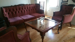 Antique french style living room set