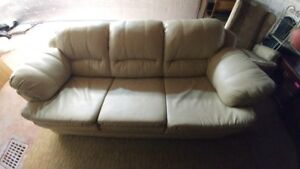 LOVELY LEATHERETTE COUCH