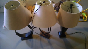 Lamps $30 each or $80 for all three