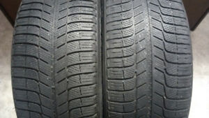 One pair 225/55/17 Michelin X-Ice XI3 Winter tires.