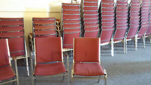 Cloth Stacking Chairs with Metal Frames - Qty 50 - price reduced Cambridge Kitchener Area image 1