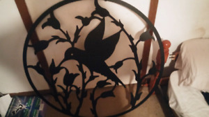 Steel bird decor