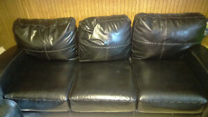 Bonded Leather - couch, love seat and chair