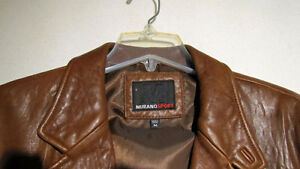 LIKE NEW - Men's Murano Sport leather casual jacket Kawartha Lakes Peterborough Area image 3