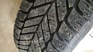 Four Goodyear Ultra Grip Tires, Rims and Caps