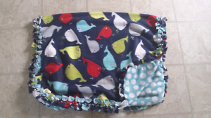 Double sided whale blanket -new!