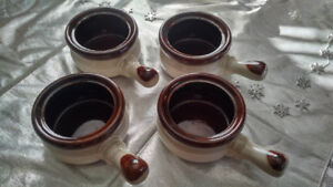 4 New French Onion Soup Bowls