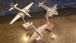 SET OF 3 Handmade airplane models