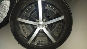 American racing rims with rubber good for 1 year 225/45r17 94W