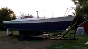 fast  low draft 30ft Lift keel Boat with Trailer Launch!