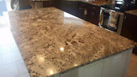GRANITE & QUARTZ COUNTERTOPS -Kitchen /Vanity Sinks INCLUDED**GP