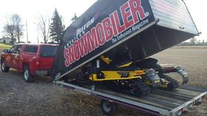 SNOWMOBILE TRUCK AND TRAILER  YELLOW STICKER