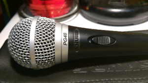 SHURE PG48 Dynamic vocal microphone.