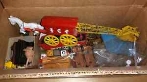Box Lot of Vintage Toys