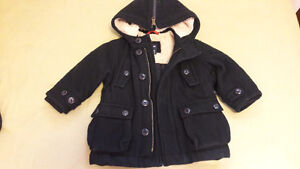 BLACK BABY GAP WINTER COAT FOR 18-24 MTHS OLD Kitchener / Waterloo Kitchener Area image 1