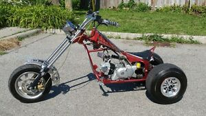 "Custom 125cc – 4 stroke ""Spiderman"" Trike"