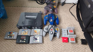 N64 with games and accessories for sale or trade