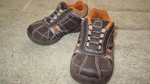 teeny toes brown leather unisex shoes size 4 ( 19,5 )