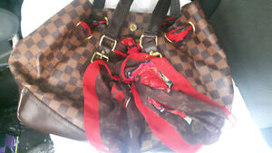 louis vuitton purse with scarf