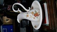 vintage water pitcher and Bowl hand painted 12 inches