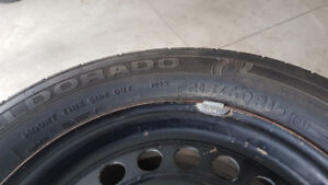 215 60 R15 tires with rims.... $350.00