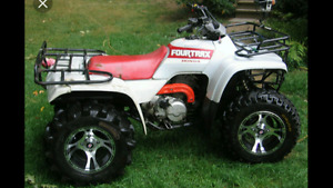 Wanted honda 300 2x4 or 300 4trax ! Color doesn't matter !!
