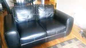 Leather Loveseat Couch - Like New