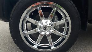 "22"" FUEL CHROME RIMS w/ NITTO TERRA GRAPPLER - FITS TUNDRA/RAM"