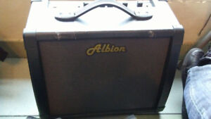 Albion combo amp. AG40R.  With reverb pedal.