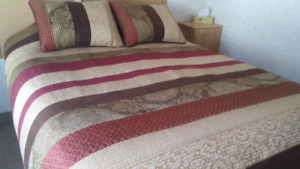 Queen size Coverlet and Shams