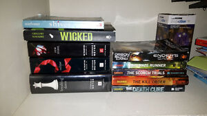 Books! The Maze Runner Series. Shiver. Wicked. New Moon. Ect.