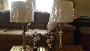 Two brand new still with tags Home Sense lamps. $30ea $50 pair.
