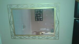 Large mirror made cast iron great accent piece