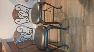 Bar stools ...wood and iron