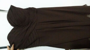 Espresso Sweetheart Strapless Bridesmaid Dress Size 6 Kitchener / Waterloo Kitchener Area image 3