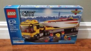 Lego city power boat transporter for sale SEALED