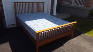 Queen Size Bed, dresser and 2 end tables, mattress, box