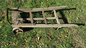 Old warehouse cart two wheel dolly vintage