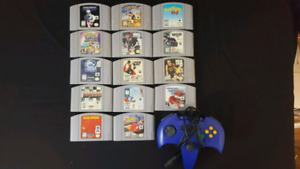 N64 Nintendo 64 games and aftermarket controller