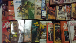 Massive Vintage Western Paperback Collection Prices $5-55
