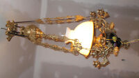 CHANDELIER SOLID BRASS FROM ITALY NEW!