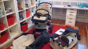 Bugaboo Chameleon (beige and brown) in excellent condition