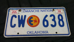 NATIVE AMERICAN LICENCE PLATES