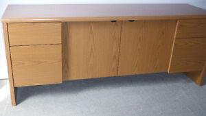 4 Drawer Office Credenza with key, Delivered