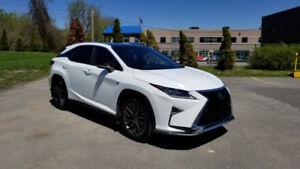 2016 Lexus RX 350 F Sport SERIES 3 White on Red LOW KM Lease/Buy
