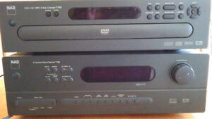 Nad Stereo Surround Sound with 5 DVD changer.