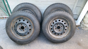 175/70/13 Uniroyal winter tires 4x100