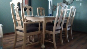 Dining Table and 6 chairs.